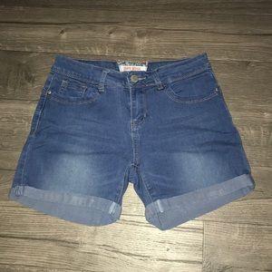 Hot Kiss,blue denim shorts.size 3